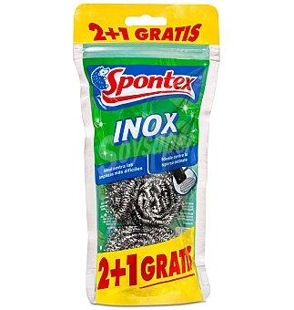 Spontex ESTROPAJO INOX 2+1 3 UNI