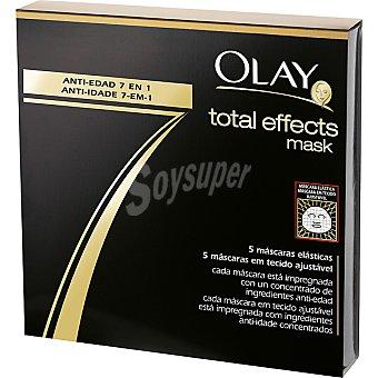 Olay Total Effects 7 mascarillas elásticas caja 5 unidades Caja 5 unidades