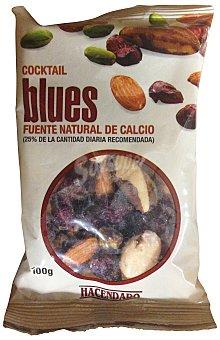 Hacendado Cocktail frutos secos blues (arandano, almendra, coquito y pistacho) Paquete 100 g