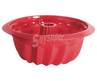 PYREX Molde redondo Savarin de 22 centimetros e diámetro fabricado en silicona, modelo Flexi Twist 1 unidad