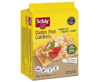 SCHAR Crackers sin gluten y sin lactosa envase 210 g