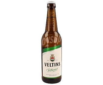VELTINS Cerveza rubia alemana de tipo pilsener Botella de 50 centilitros