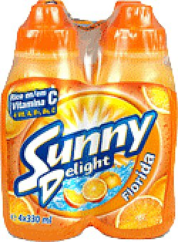 Sunny Delight Sunny delight florida Pack de 4 botellas de 330 ml