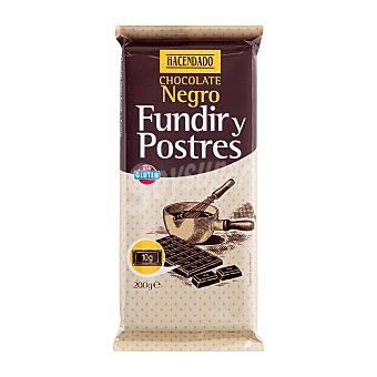 Hacendado Chocolate fundir postres extrafino fondant Tableta 200 g