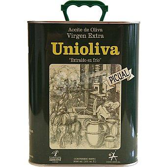 Unioliva aceite de oliva virgen extra picual  lata 3 l