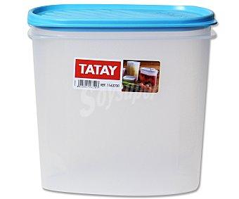 TATAY Tupper ovalado de plásitco apto para lavavajillas y microondas, 2 litros 1 Unidad