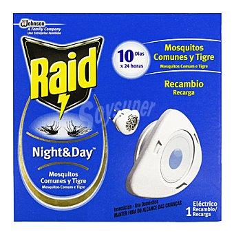 Raid Insecticida Night & Day antimosquitos 1 recambio.