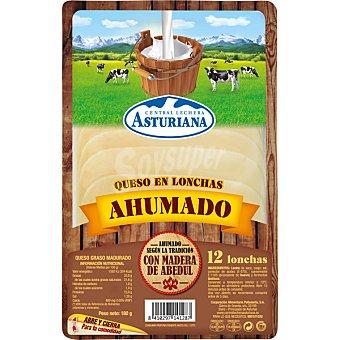 Central Lechera Asturiana queso en lonchas ahumado 12 lonchas envase 180 g