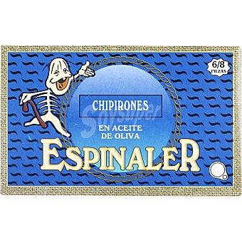 Conservas Espinaler Chipirones en aceite de oliva 6-8 piezas lata 72 g neto escurrido Lata 72 g neto escurrido