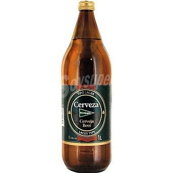 El Corte Inglés Cerveza rubia botella 1 l Botella 1 l