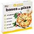 Bases de pizza 2 unidades sin gluten, huevo, leche, soja, semillas y sin aceite de palma envase 300 g envase 300 g Adpan