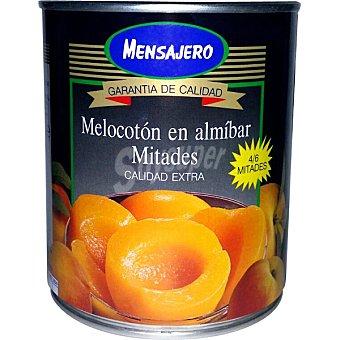 Mensajero Melocotón en almíbar en mitades calidad extra Lata 480 g neto escurrido