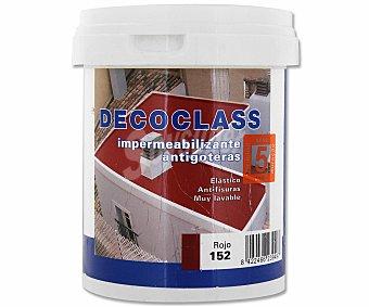 DECOCLASS Pintura Impermeable Antigoteras, Color Rojo 0,75 Litros