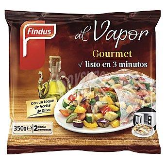 FINDUS menestra Gourmet al vapor 2 bolsas individuales  bolsa 350 g
