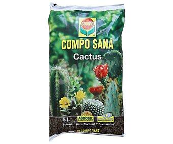 Compo Saco turba sana cactus 5 litros, COMPO. 5 litros