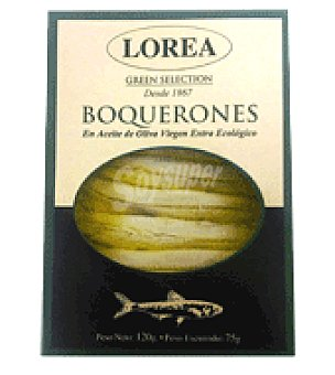 Lorea Boqueron vinagre y aceite oliva extra ecológico 120 g