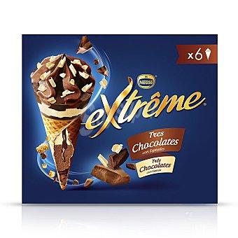 Extrême Nestlé Cono con tres chocolates 6 ud 6 ud