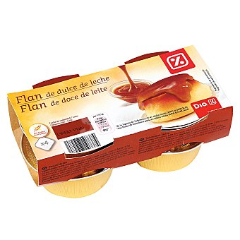 DIA DELICIOUS Flan de dulce de leche Pack 4 unidades x100 g