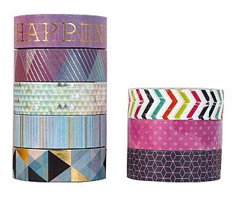PRODUCTO ALCAMPO 8 Cintas Adhesivas Decorativa de figuras, tramas y colores surtidos para creaciones diy, artísticas y mas alcampo