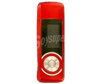 AUCHAN MP-0071 Reproductor MP3 4GB con sintonizador de radio am/fm, color rojo