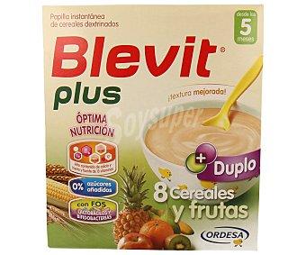Blevit Papilla plus instantánea de 8 cereales y fruta a partir de 5 meses 600 g