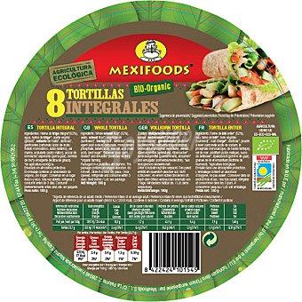 MEXIFOODS Tortitas integrales de trigo ecológicas  8 unidades (envase 190 g)