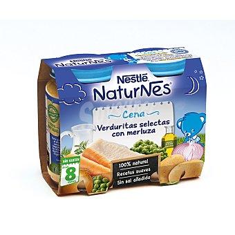 Naturnes Nestlé Cena de verduritas selectas con merluza 2 tarritos de 200 g
