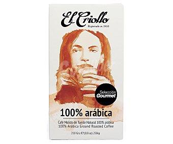 El criollo Café molido 100 % Arábica 250 g