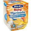 Merienda de melocotón con yogur Pack 2 u x 130 g Hero Baby