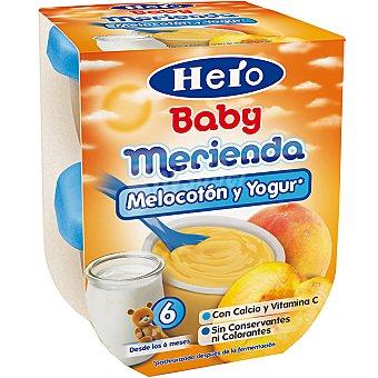 Hero Baby Melocotón con yogur Merienda pack 2 envase 130 g