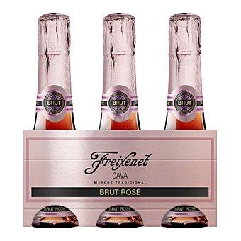 FREIXENET Mini cava brut rosé pack 3 botella 20 cl