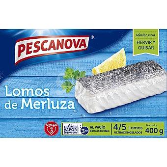 Pescanova Lomos de merluza 4-5 piezas  Estuche 400 g (neto escurrido)