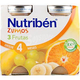 Nutribén Zumo de 3 frutas Pack 2x130 ml
