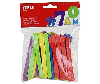 APLI Bolsa de 50 palos de helado de colores surtidos 1 unidad