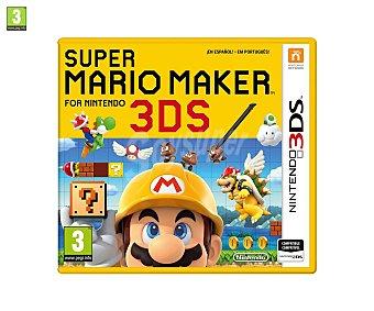Nintendo Videojuego Super Mario Maker para 3Ds. Género: plataformas. pegi: +3