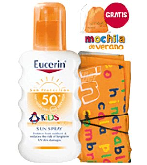 Eucerin Pack Spray SPF50+ kids + Regalo Mochila 200 ml