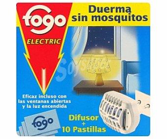 Fogo Insecticida aparato eléctrico +10 Pastillas 1 Unidad
