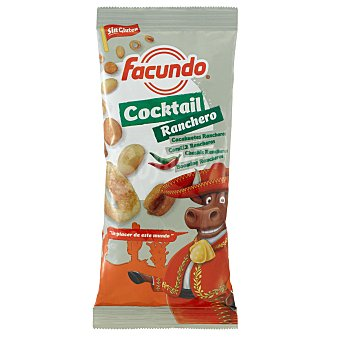 Facundo Cocktail de frutos secos Ranchero (maíz, cacahuetes, Chaskis, Booming) 150 Gramos