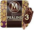 Bombón helado de praliné recubierto de helado belga Caja 3 u x 90 ml (270 ml) Magnum Frigo