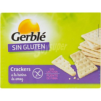 GERBLE Crackers a la harina de arroz sin gluten caja de 125 g