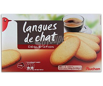 Auchan Galletas lenguas de gato 200 gramos