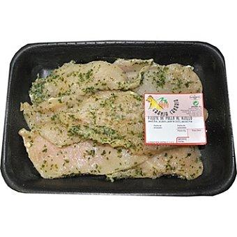 GRANJA CANARIA Filete de pechuga de pollo del país al ajillo peso aproximado Bandeja 550 g