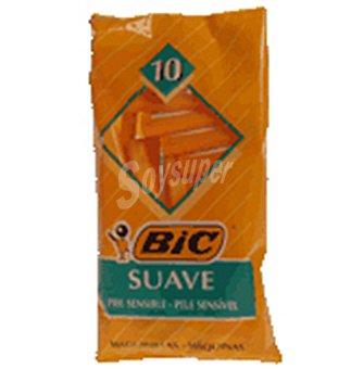 Bic Maquina afeitar suave 10 UNI