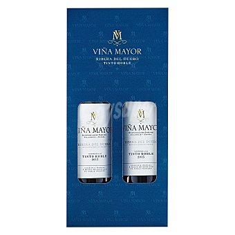 Viña Mayor Estuche de vino D.O. Ribera del Duero tinto roble Pack 2x75 cl