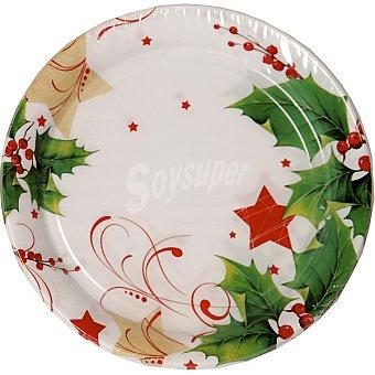 NV CORPORACION plato Merry Christmas 22 cm  paquete 8 unidades