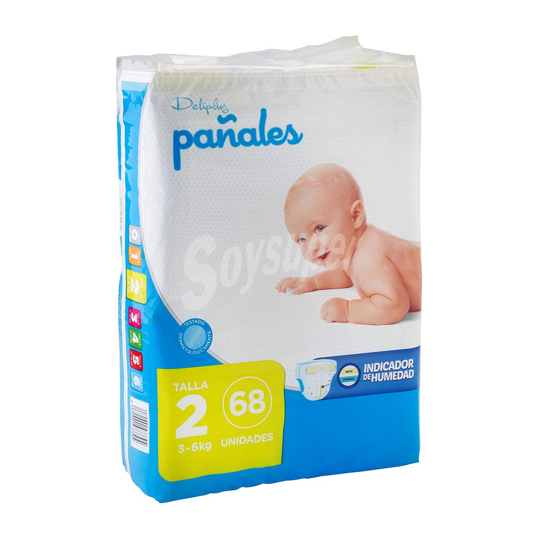 Deliplus Panales Talla 2 De 3 A 6 Kg Paquete 68 U