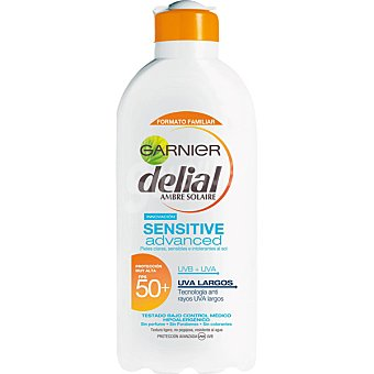 Delial Garnier Advanced leche protectora pieles claras sensibles e intolerantes al sol frasco 400 ml resistente al agua Sensitive Frasco 400 ml