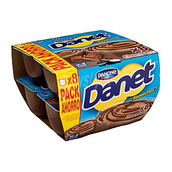 Danone Natillas de chocolate Pack 8 x 125 g