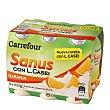 Yogur líquido Sanus sabor naranja + l.casei 6 unidades de 100 g Carrefour