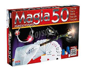 FALOMIR JUEGOS Caja con accesorios y manual para 50 trucos de magia 1 unidad